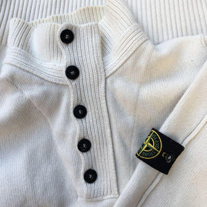 stone island aw 2009 knit sweater in cream