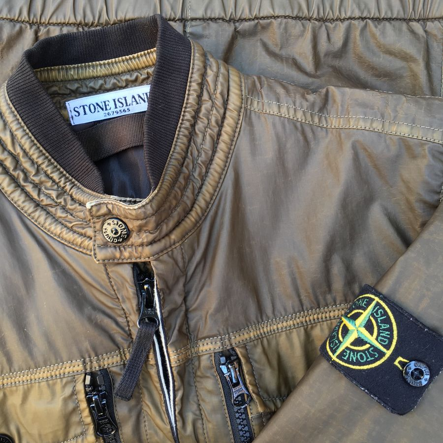stone island mussola gommata jacket close up 2011