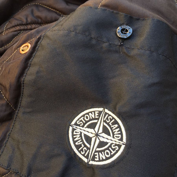 stone island internal pocket with compass logo