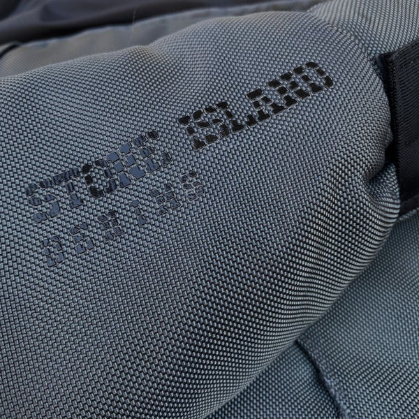 stone island denims spell out logo