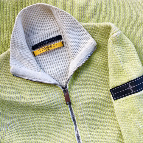 stone island denims aw 2009 zip knit sweater