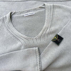 vintage stone island knit designed by alessandro pungetti