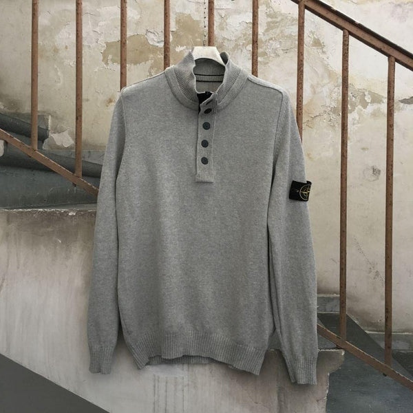 stone island ss half button sweater