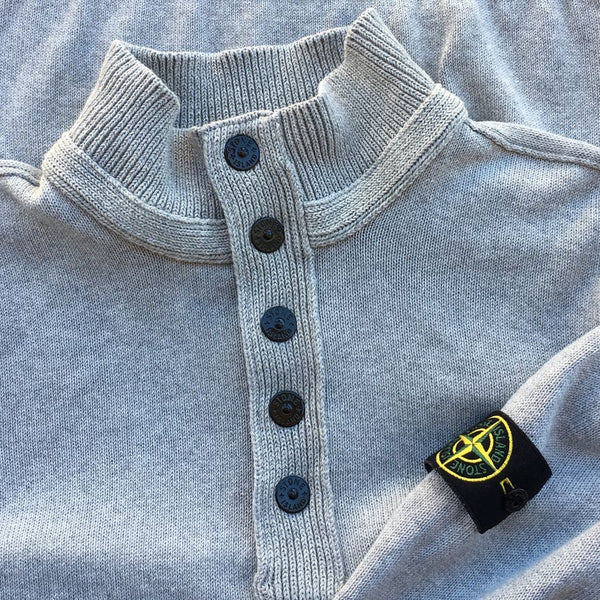 stone island ss sweater half button sweater