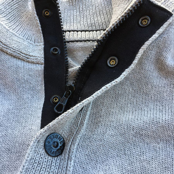 Stone Island SS Half Button Sweater (L/XL)