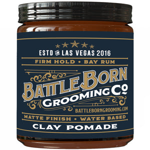 Clay Pomade - (Bay Rum, 4 oz)