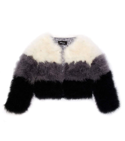 Blake Coat Bone/Grey/Black Feathers