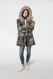 Amanda Parka - Grey Camo / Dusty Nude