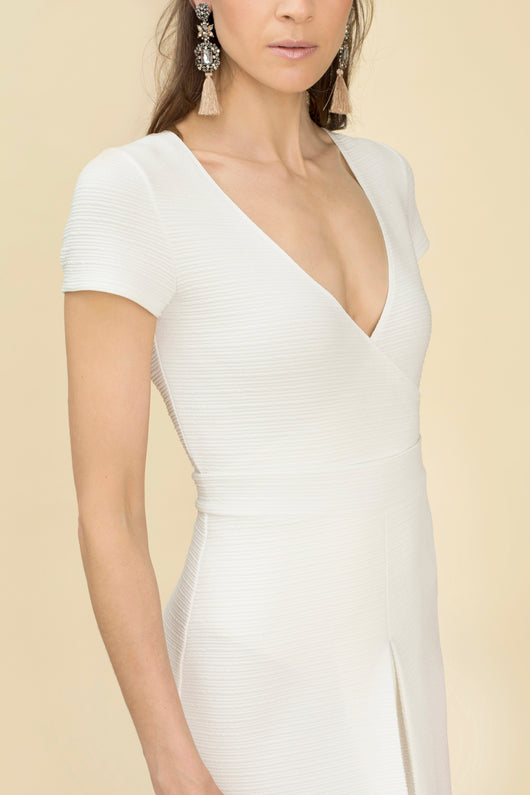 DAVIS PROJECT LO BODYSUIT WHITE CROSS FRONT