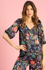 LILY - NAVY FLORAL