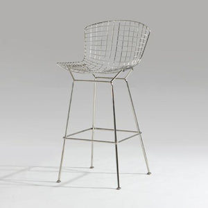 Harry Bertoia, Bertoia bar stool, wire stool, cafe stool, restaurant bar stool, new zealnd furniture, furniture bar stool, cafe stool, wire chair, chrome bar stool, industrial furniture, industrial stool, vintage stool