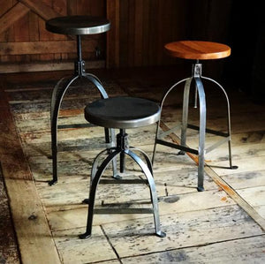 Wood Top Factory Stool Short