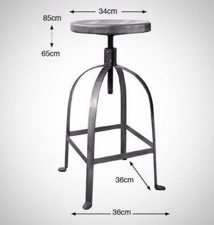 metal stool, screw stool, industrial stool, barstool metal, solid steel stool, restaurant stools, solid metal screw stool, turner stool