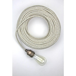 Fabric coloured cable, electrical cable, cloth covered electrical cord, vintage lighting, vintage coloured cable, 3 core cable