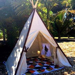 Kids teepee, tipi, kids play tent, play tent, cotton tent, canvas teepee, Mocka teepee, Mocka tent, mocha nz, kids christmas present, baby room decor nz, kiwi living teepee, wedding tent. outdoor tent,  owl tent, owl teepee
