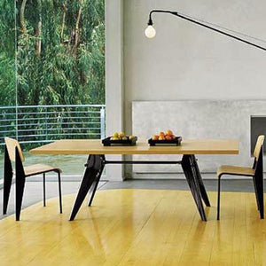 Replica Prouve Dining Table & 6 Chairs