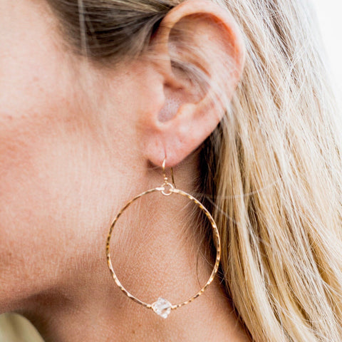 Herkimer Hoop Earrings