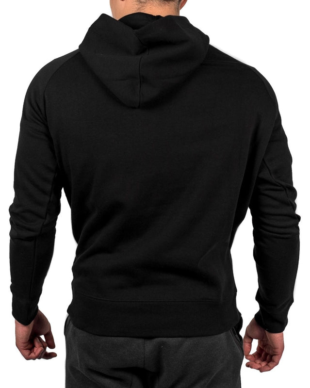 ADV Sport Hybrid Hoodie Fitness Apparel Back - Black