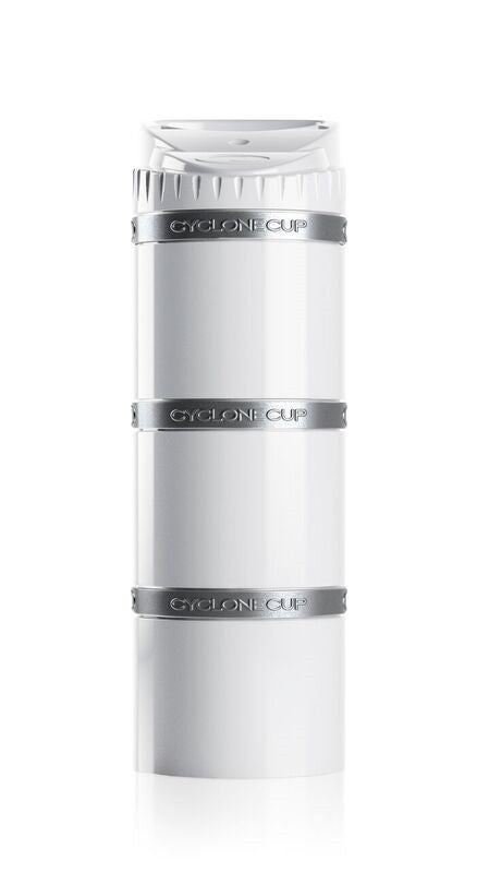 Cyclone Core storage capsule with 3x pill compartment in White