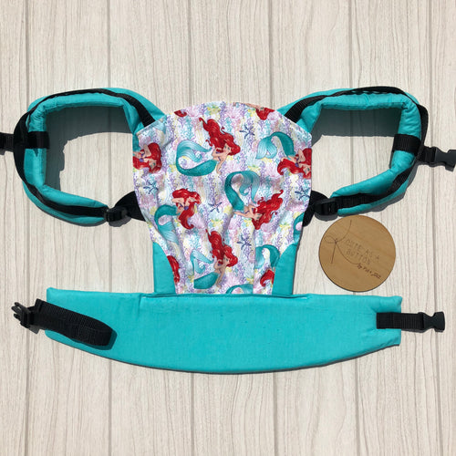 Little mermaid doll carrier, mini soft structured carrier