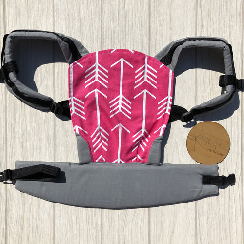 Pink arrow doll carrier, mini soft structured carrier