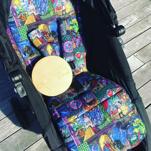 stained glass pram liner