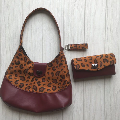 Phoebe bag- featuring Kokadi Safari and matching NCW