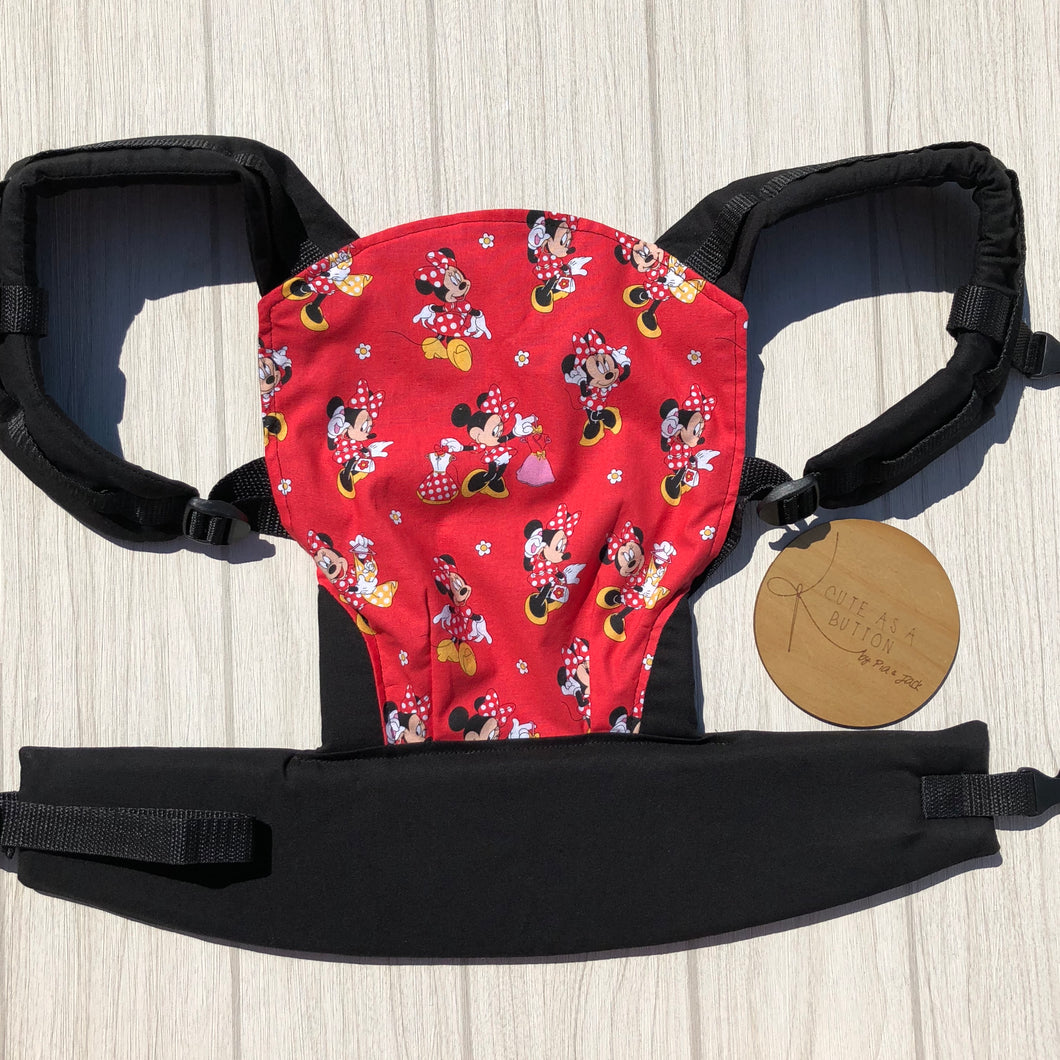 Mini mouse (red) doll carrier, mini soft structured carrier
