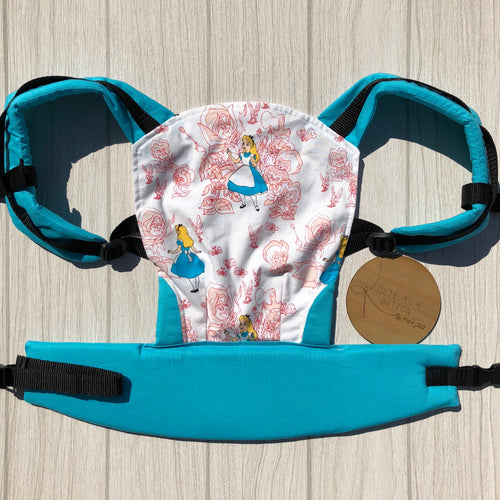 Alice in wonderland doll carrier, mini soft structured carrier