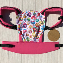 White shopkins doll carrier, mini soft structured carrier