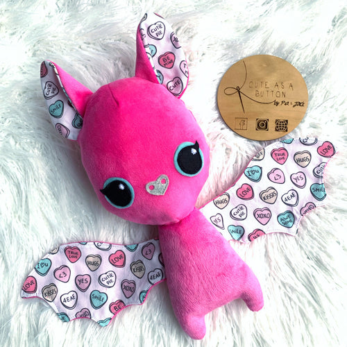 Candy hearts Bat Plushie