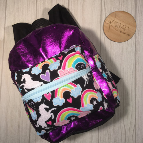 Custom Dear diary kids back pack- purple