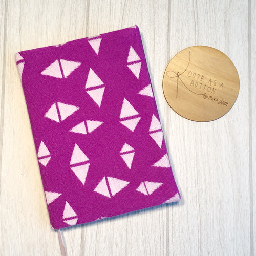 A5 hard cove notebook featuring ankalia pinnicle # 19 wrap dust cover