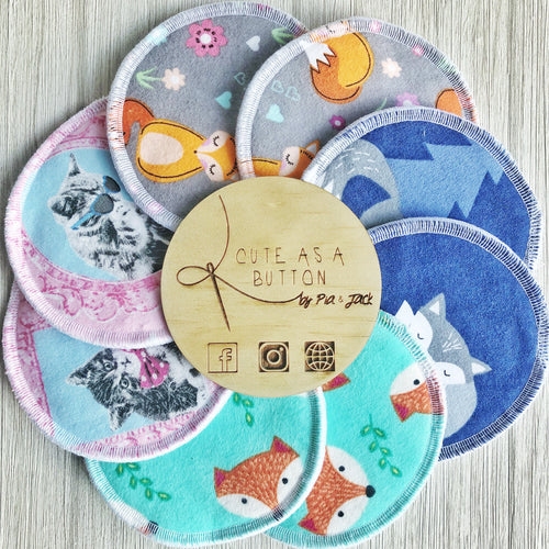 Washable nursing pads - animal pack 1