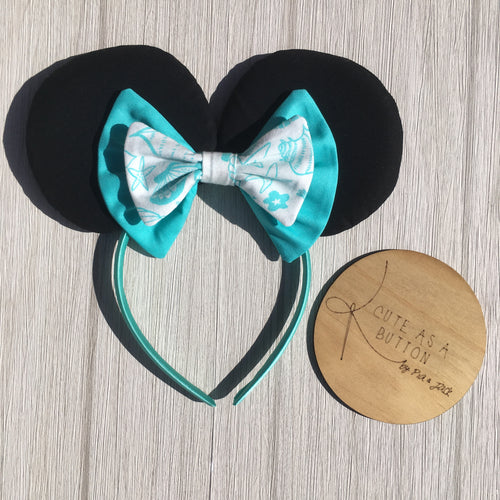 Mini ears head band with double bow
