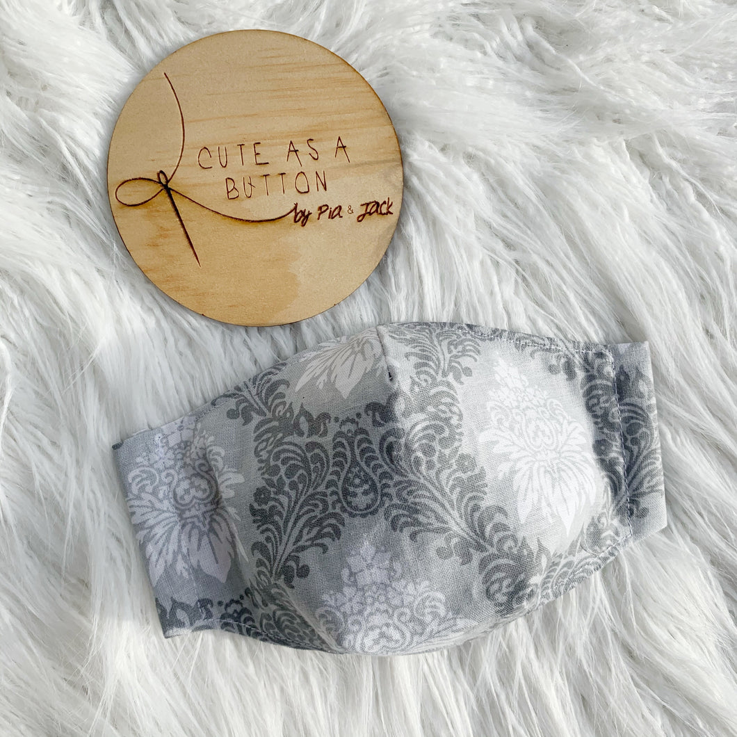 Grey demask face mask