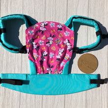 Pink mini mouse doll carrier, mini soft structured carrier