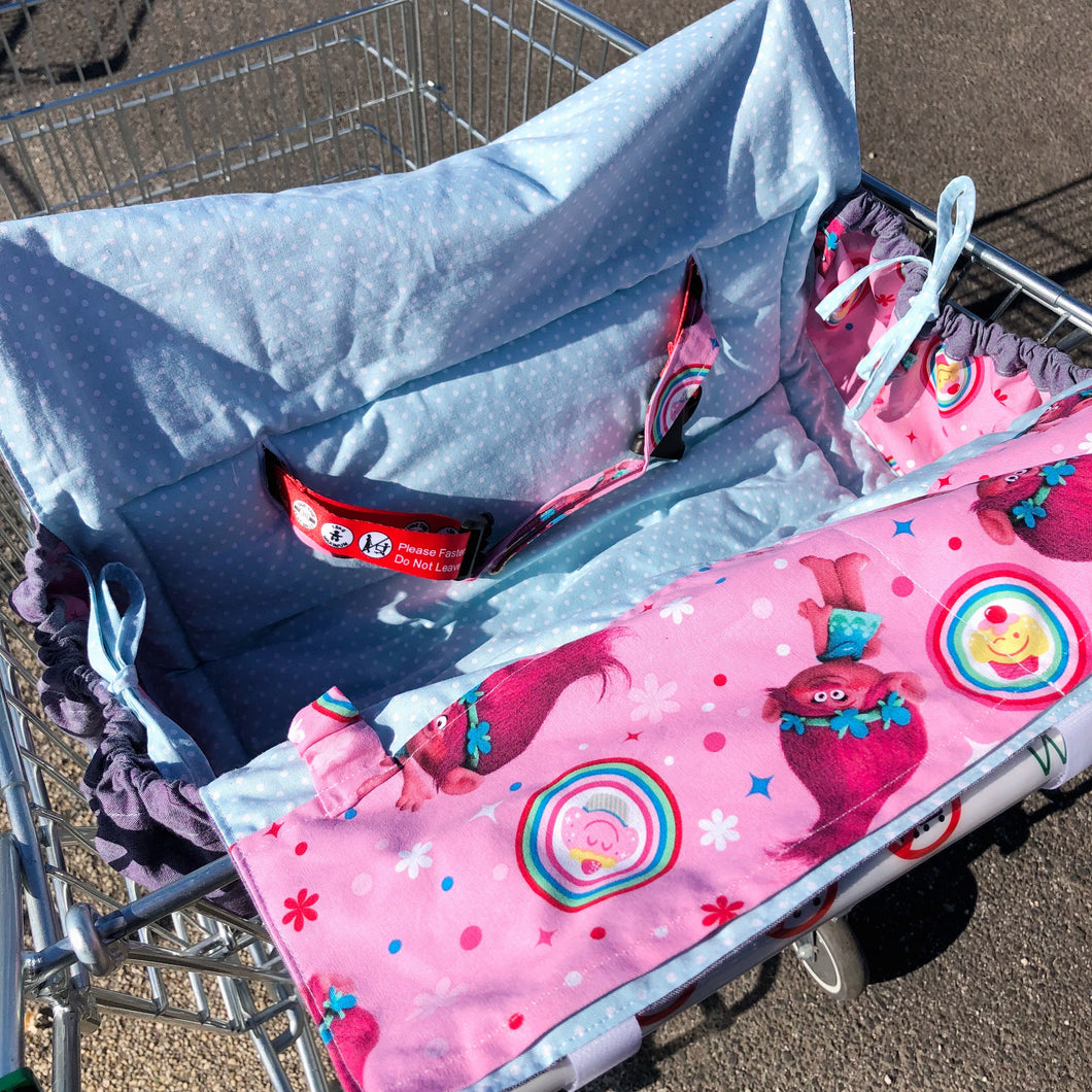 Custom made shopping trolley cover