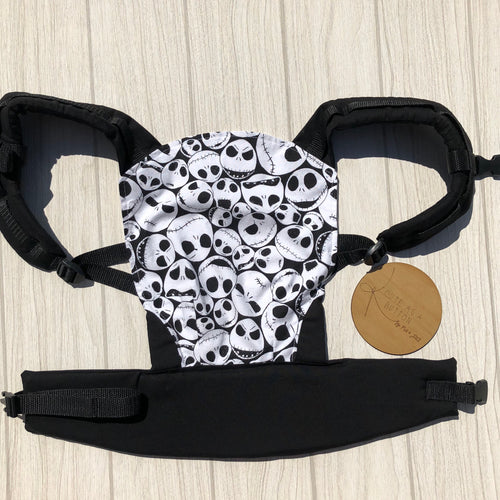 Jack skellington doll carrier, mini soft structured carrier