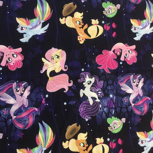My little pony - black with mermaid tails