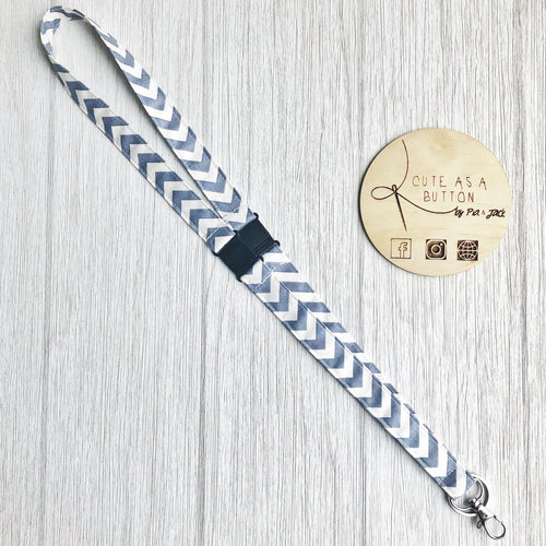 Grey Chevron Lanyard