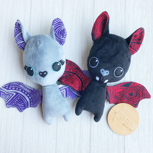 Foundation Dionysus and Fire bat plushies
