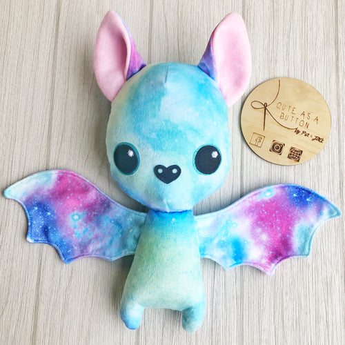 Pastel Galaxy Bat Plushie