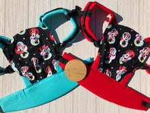 Black mini mouse doll carrier, mini soft structured carrier