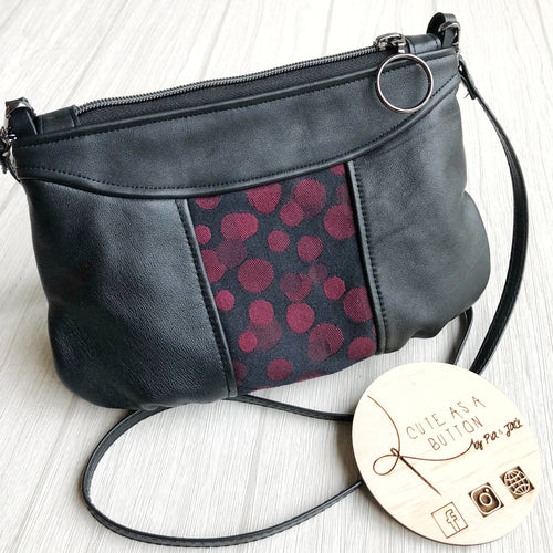 The Alice crossbody featuring Ankalia lollie black cherry