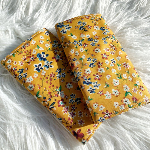 Mustard floral straight suck pads