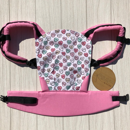 Sweet hearts doll carrier, mini soft structured carrier