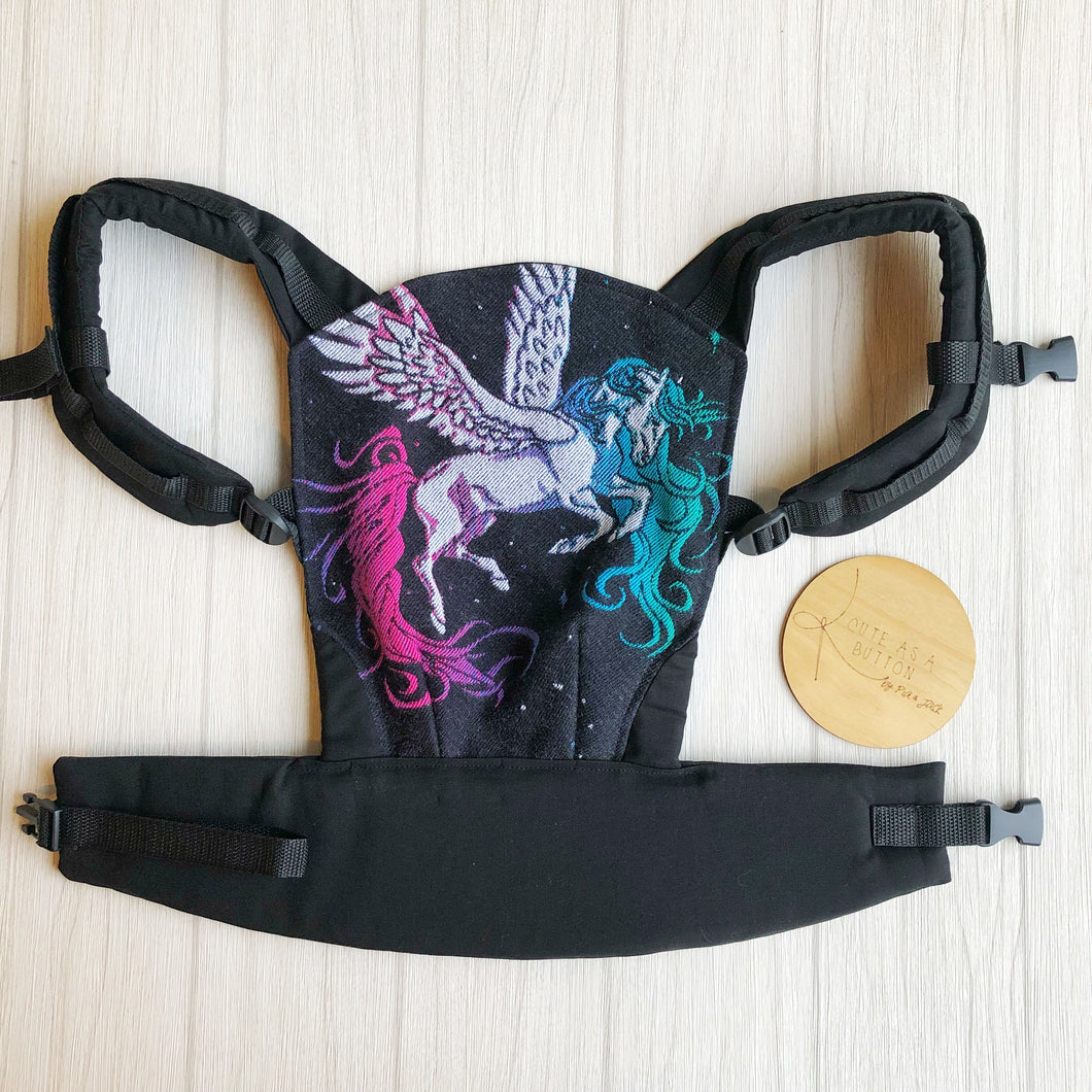 equestrian galaxy doll carrier, mini soft structured carrier