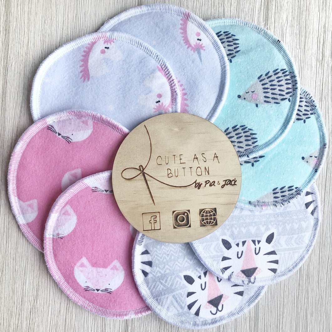 Washable nursing pads - pastel pack