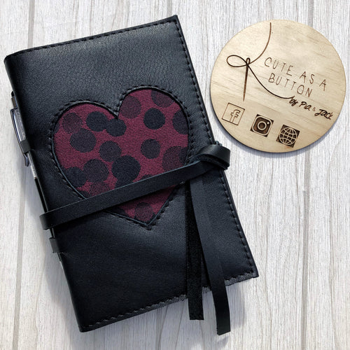 A6 planner cover featuring Ankalia Lollie Black Cherry